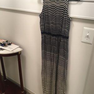 LOFT striped maxi dress size S